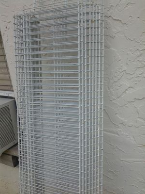 X5 12inch 4ft long metal wire shelf shelves, no mounting hardware for Sale in Pompano Beach, FL