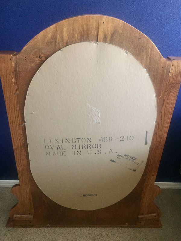 Wooden Mirror with Built-In Storage