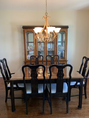 Table 6 chairs and two leafs with china cabinet for Sale in Milford, CT