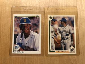 Ken Griffey jr and sr vintage collectible cards for Sale in Culver City, CA