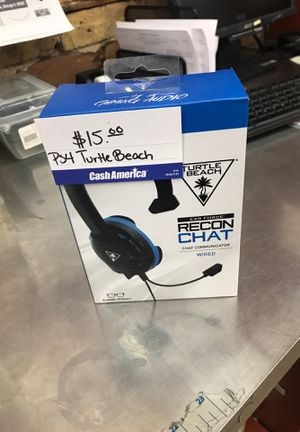PS4 turtle beach for Sale in Chicago, IL