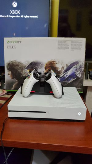 XBOX 1S 2TB WITH 2 CONTROLLERS AND POWER A CHARGER AND BATTERIES for Sale in Galloway, OH