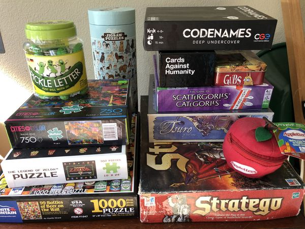 12 Board Games and Puzzles ($15 each)