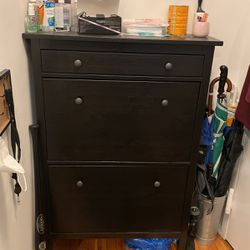 Shoe holder cabinet/dresser, dark brown for Sale in Queens,  NY