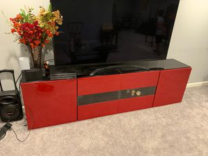 Entertainment Center/TV Stand with 4 cabinets, each cabinet with 3 shelves for Sale in Macomb, MI