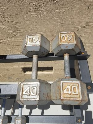 Dumbbells 40s for Sale in Gilroy, CA