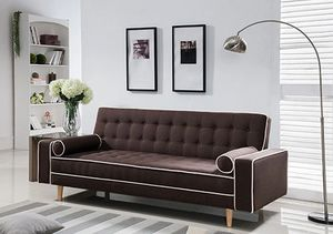 Linen click-clack futon sofa bed with 2 accent pillows included, available in 2 colors $289.00. Hot buy! In stock! Free delivery! We are an online s for Sale in Ontario, CA
