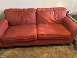 Red Linen Sofa for Sale in Columbia, MO