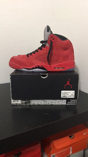 Jordan Retro 5 Red suede for Sale in Reedley, CA