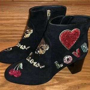 Kate Spade New York Liverpool Cat Suede Black Boots Sz 9 for Sale in Peoria, IL