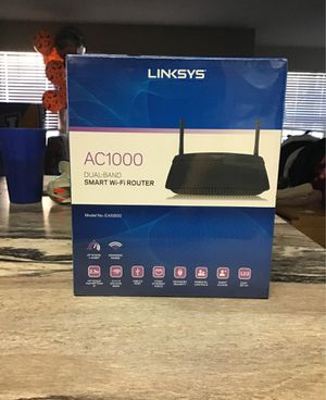 Linksys Ac1000 Dual-Band Smart WiFi Router for Sale in Tulsa, OK