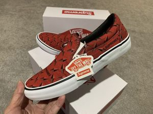 Supreme x Vans - Diamond Plate Slip On - Red - 10.5 Mens for Sale in Anaheim, CA