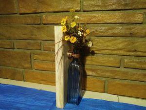 Decorative vase rustic wood decor for Sale in Allen Park, MI