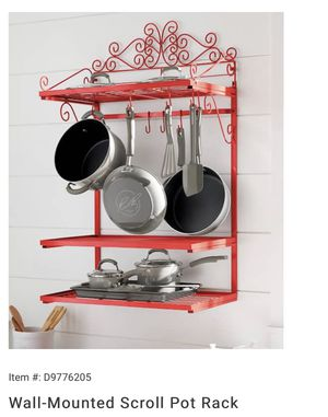 Wall Mounted pot rack for Sale in St. Louis, MO