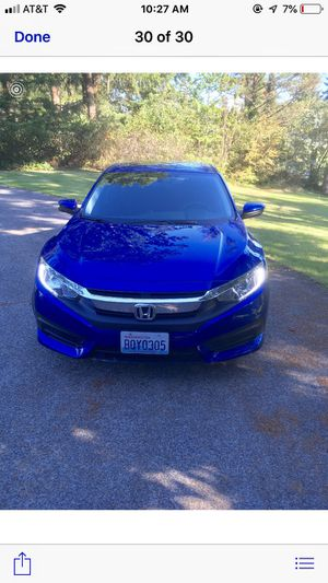 2017 Honda Civic EX Blue 25,xxxx original miles for Sale in Tacoma, WA