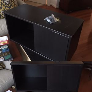 Two black IKEA wall mount cabinets 33x14x18 for Sale in Gaithersburg, MD