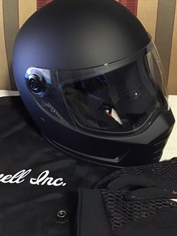 Biltwell Lane Splitter Helmet SIZE SMALL , With a Dust Bag And a Pair Of Harley Davidson Leather Gloves for Sale in Atlanta,  GA