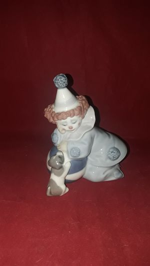 "LLADRO #5278 FINE PORCELAIN ""NINO"" PIERROT CLOWN WITH PUPPY &;BALL SCULPTURE FIGURINE IN ORIG BOX for Sale in Pompano Beach, FL"