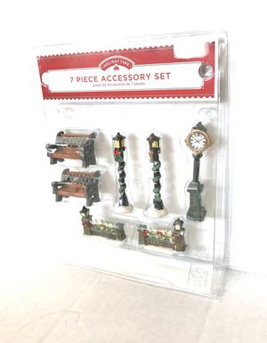 New* 7 PC Accessory Kit Mini Holiday Scene Decor *1 broken for Sale in Westerville, OH