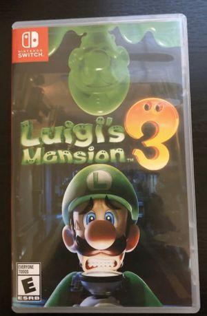 Luigis mansion 3 Nintendo switch for Sale in Dallas, TX