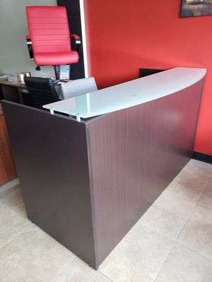BEAUTIFUL GLASS TOP RECEPTION DESK, NEW!! ONLY $425 for Sale in Miami, FL