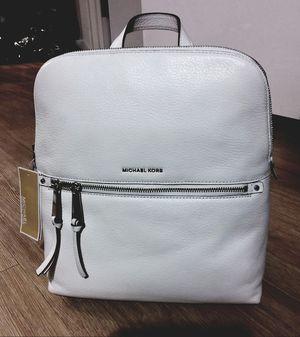 Michael Kors NWT shea backpack in Optic white for Sale in Denver, CO