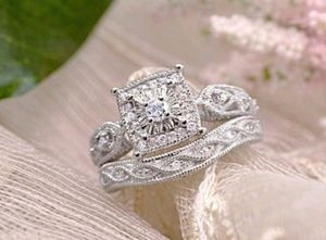 Sterling Silver Diamond Wedding Engagement Ring for Sale in Wichita, KS