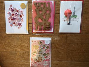 Lot of four 3D handmade Valentines cards! (C) for Sale in Takoma Park, MD