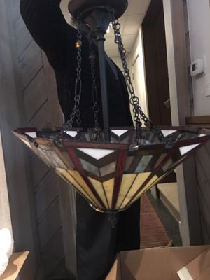 Faux Stained Glass Chandelier for Sale in Winston-Salem, NC