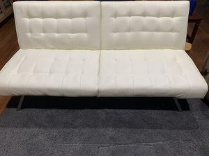 White faux leather futon for Sale in Everett, WA
