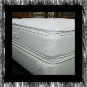 Twin mattress double pillowtop with box spring free shipping for Sale in Crofton, MD