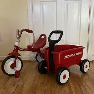Radio flyer Bike And Wagon Set for Sale in Gaithersburg, MD