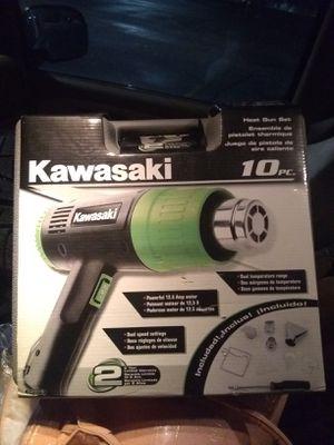 Kawasaki 10 piece heat gun set for Sale in South Salt Lake, UT