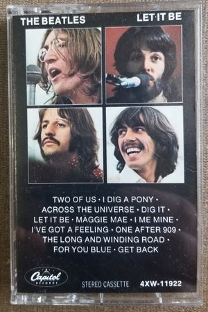 The Beatles Let it Be cassette Tape 4XW-11922 for Sale in Three Rivers, MI