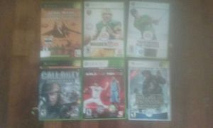 Lot of 6 xbox 360 games star wars,madden,call of duty for Sale in Atlanta, GA