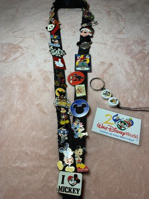 Disney World lanyard with 25 Mickey Mouse Pins for Sale in Pearland, TX