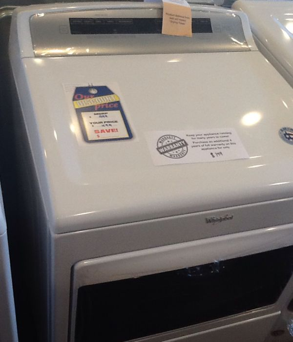 New open box whirlpool electric dryer WED7500GW