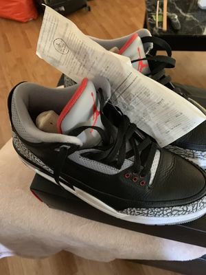 Jordan 3 black cement size 11.5 for Sale in San Diego, CA