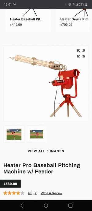 Baseball pitching machine with feeder... for Sale in Las Vegas, NV