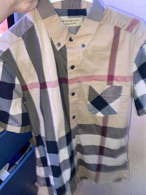 Men's Burberry London Button Up Medium Shirt for Sale in Humble, TX