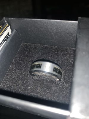 Tungsten carbon fiber ring with diamonds for Sale in Goldsboro, PA
