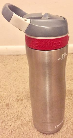 Contigo AUTOSPOUT Straw Ashland Chill Stainless Steel Water Bottle, 20 oz, Sangria for Sale in Indianapolis, IN