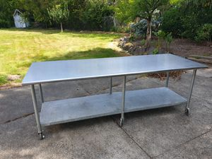 3x8 work table with caters. U.S made for Sale in Burien, WA