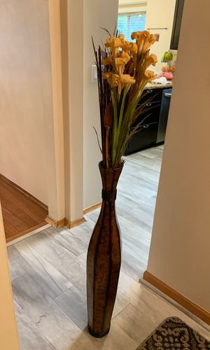 Tall vase with flowers for Sale in West Bloomfield Township, MI