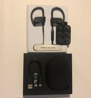 Beats by Dre Power Beats 3 Wireless Blk/Gry for Sale in Culver City, CA