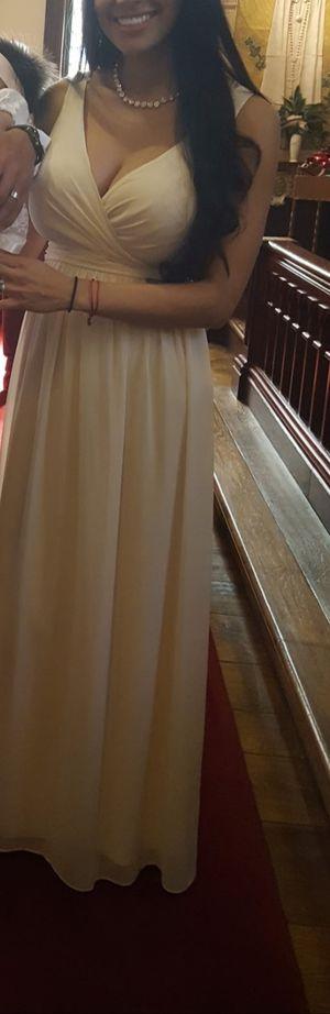 Long part dress- beige for Sale in Hayward, CA