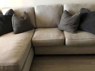 2 Pc Gray Sectional W Feather Down Pillows for Sale in Tolleson,  AZ