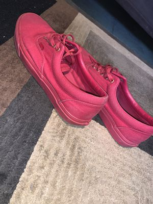 All red , gold plated vans sz 11.5 for Sale in Bethany, OK