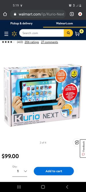 Kurio kids tablet brand new in the box for Sale in Aberdeen, WA