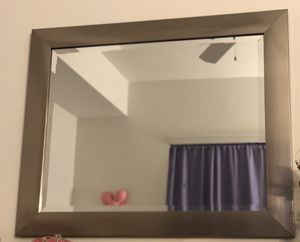 Wall Mirror/Stainless Steel Frame 33in. X 24in. FINAL PRICE for Sale in Miami, FL